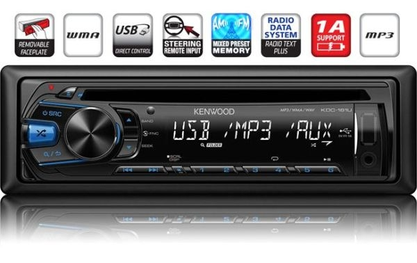 AUTO RADIO Kenwood KDC-161UB - Auto radio CD/MP3