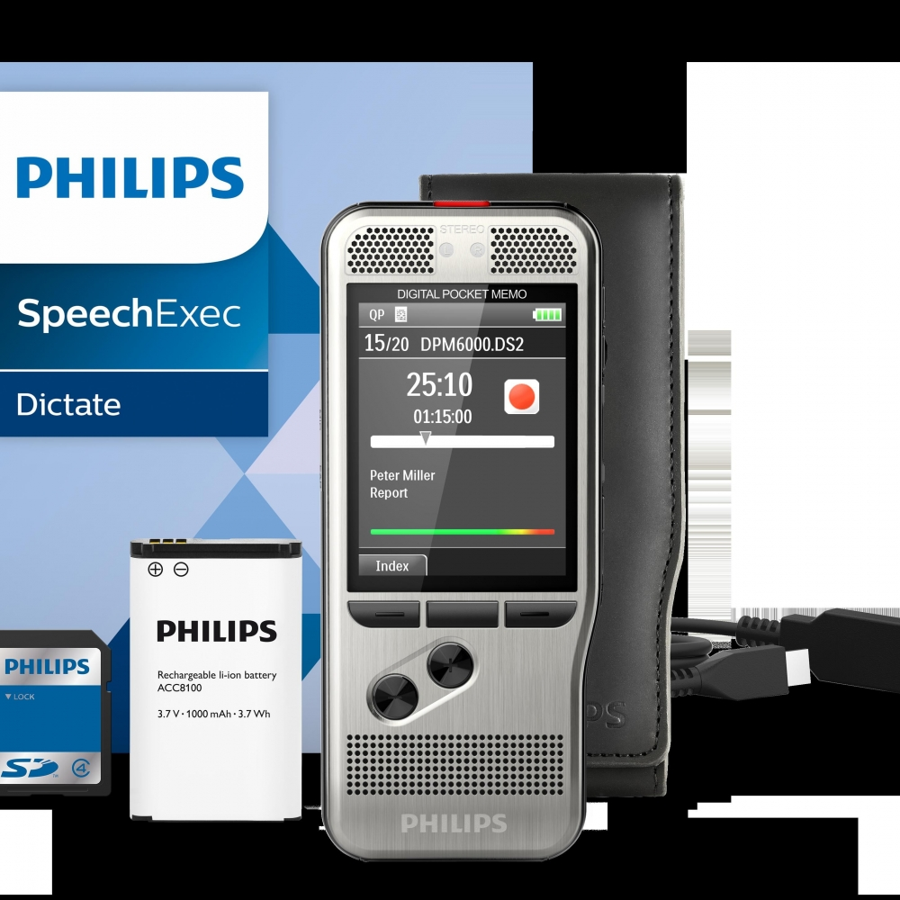 Diktafon Philips Digital Pocket Memo DPM6000 - Diktafoni