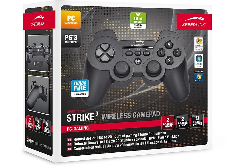 Gamepad Strike3 for PS®3 & PC, wireless, BOX - Džojstici